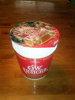 トムヤム味のCup Noodle